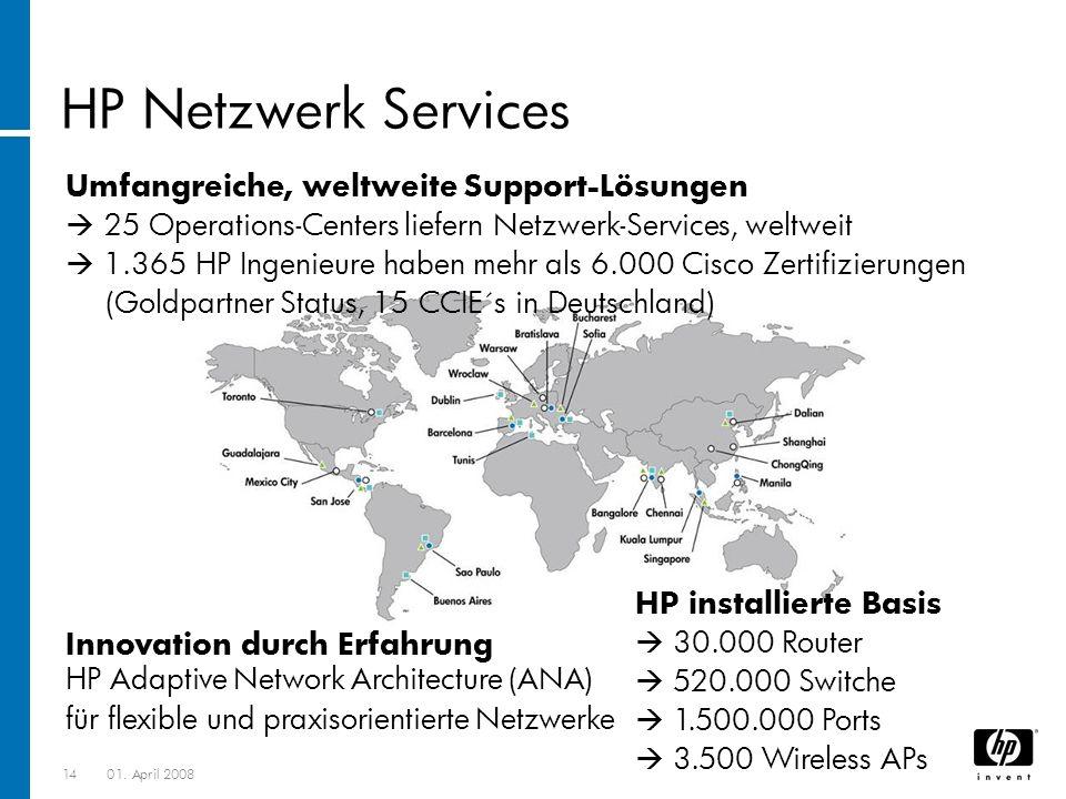 HP Netzwerk Services Umfangreiche, weltweite Support-Lösungen
