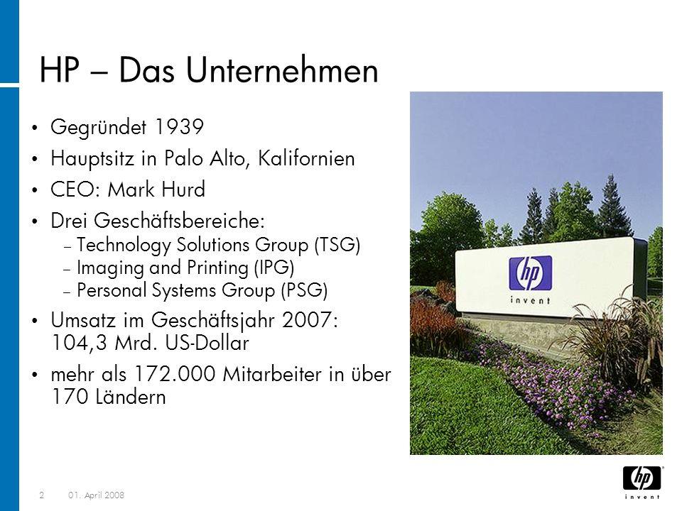 HP – Das Unternehmen Gegründet 1939