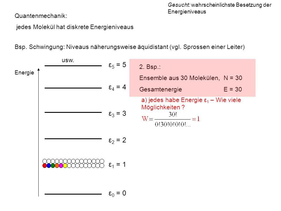 ε5 = 5 ε4 = 4 ε3 = 3 ε2 = 2 ε1 = 1 ε0 = 0 Quantenmechanik:
