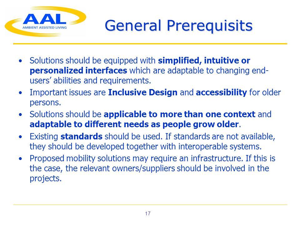 General Prerequisits