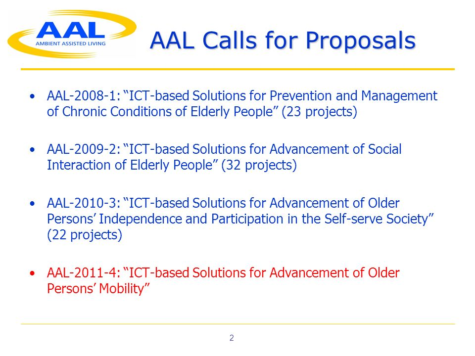 AAL Calls for Proposals