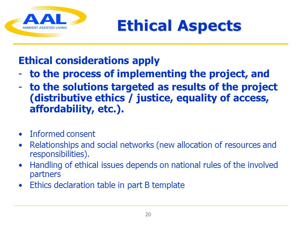 Ethical Aspects Ethical considerations apply