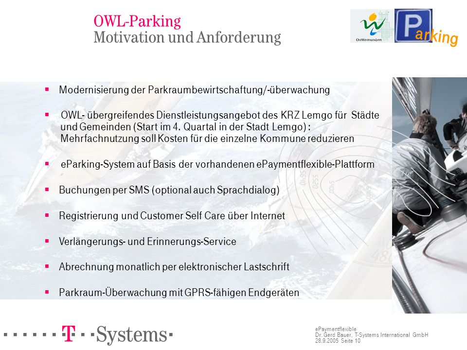 OWL-Parking Motivation und Anforderung