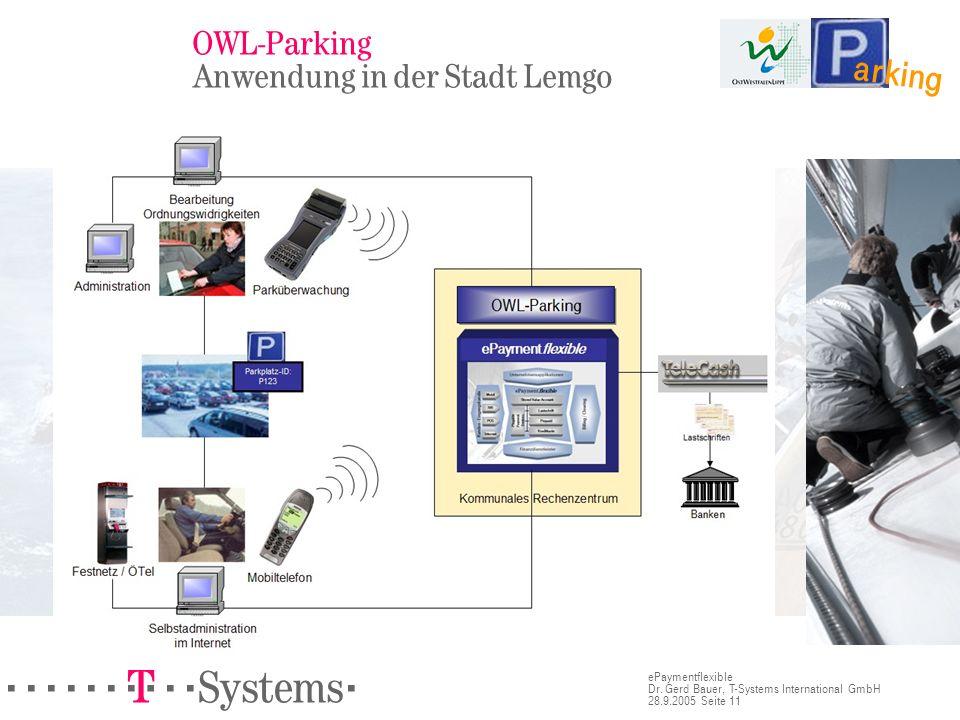 OWL-Parking Anwendung in der Stadt Lemgo