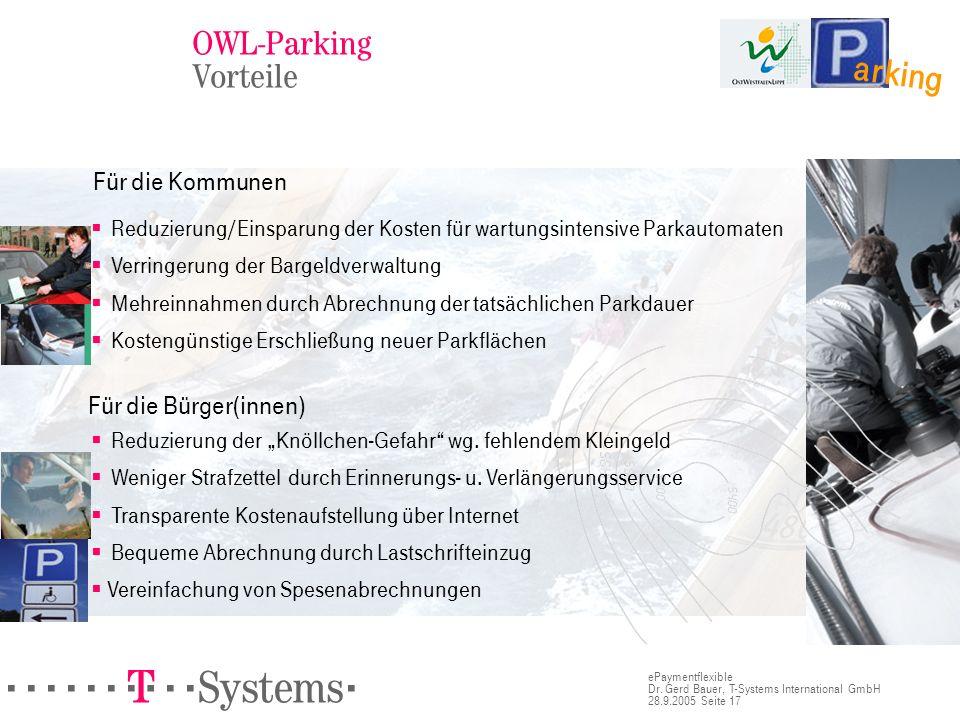 arking OWL-Parking Vorteile Für die Bürger(innen) Für die Kommunen