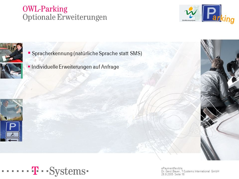OWL-Parking Optionale Erweiterungen