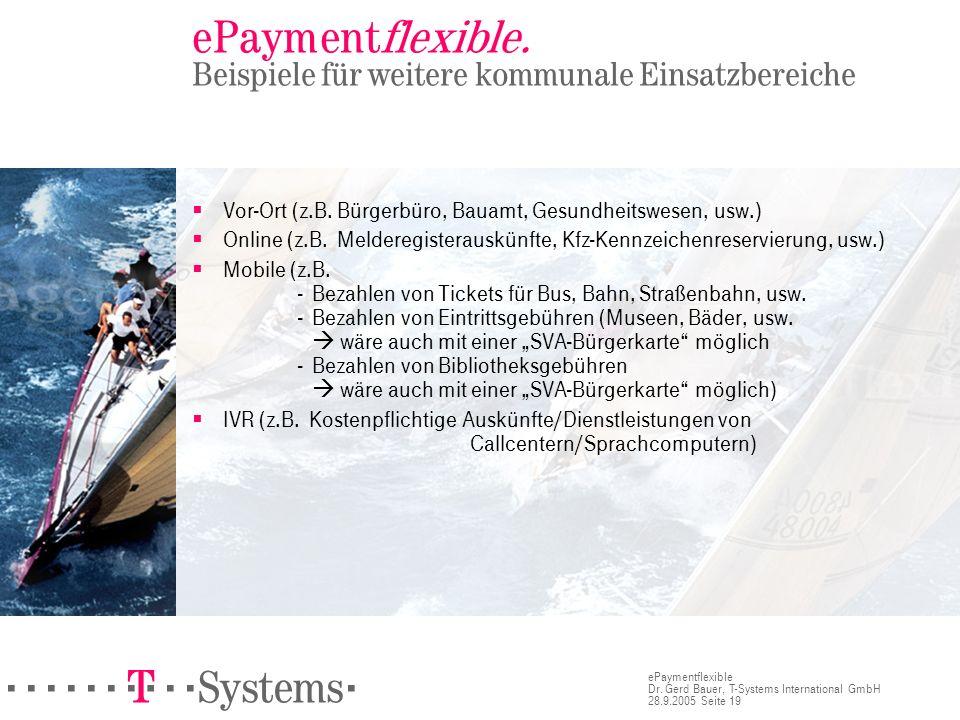 ePaymentflexible. Beispiele für weitere kommunale Einsatzbereiche