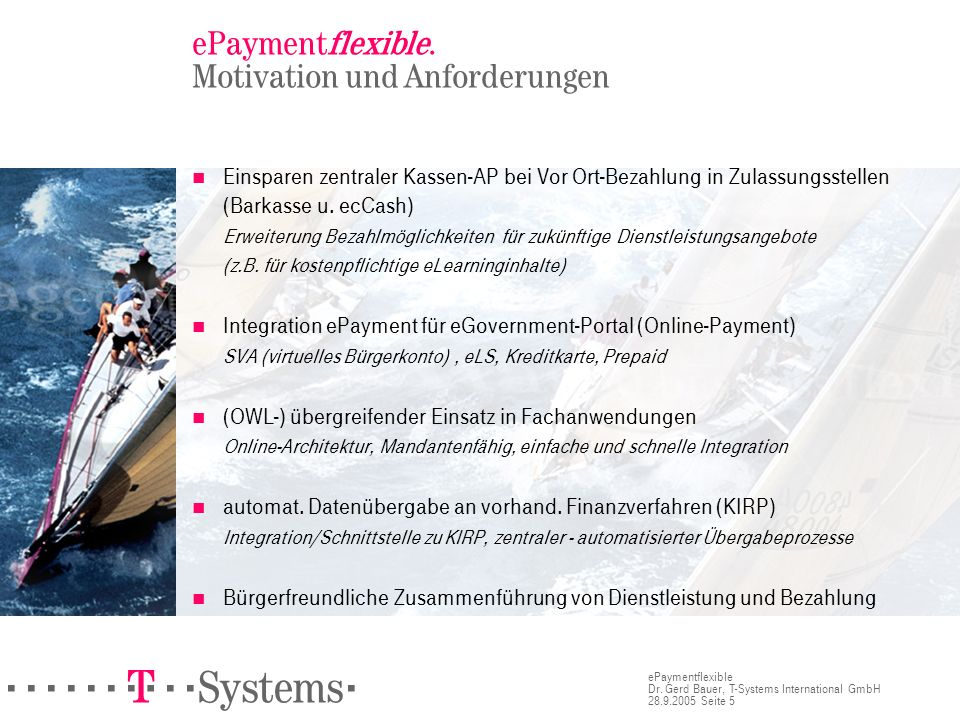 ePaymentflexible. Motivation und Anforderungen