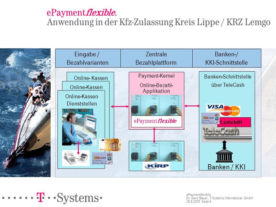 ePaymentflexible. Anwendung in der Kfz-Zulassung Kreis Lippe / KRZ Lemgo