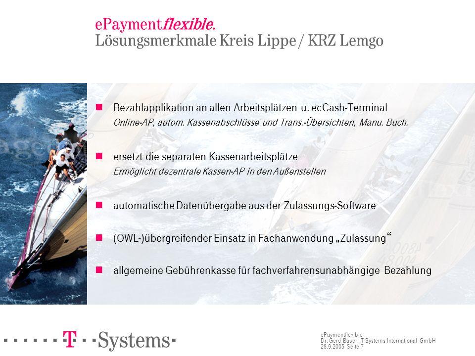 ePaymentflexible. Lösungsmerkmale Kreis Lippe / KRZ Lemgo
