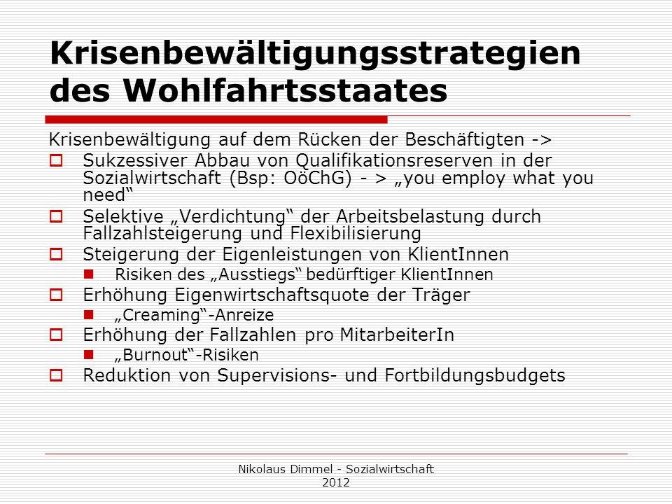 Krisenbewältigungsstrategien des Wohlfahrtsstaates