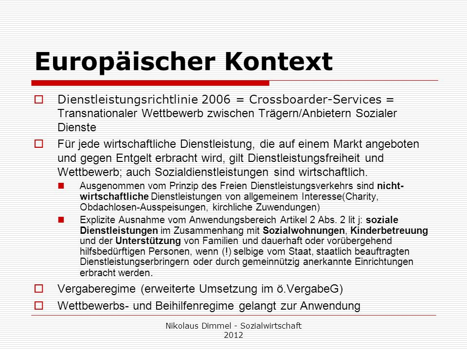 Nikolaus Dimmel - Sozialwirtschaft 2012