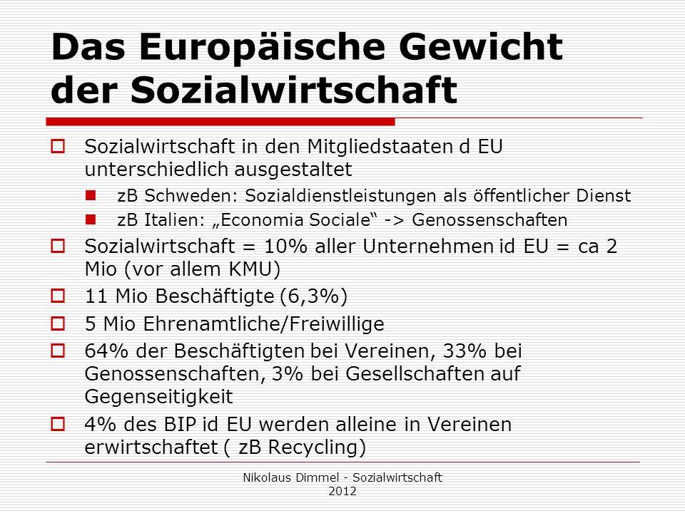 Das Europäische Gewicht der Sozialwirtschaft