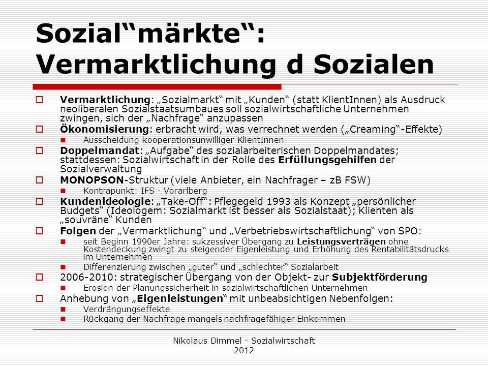 Sozial märkte : Vermarktlichung d Sozialen