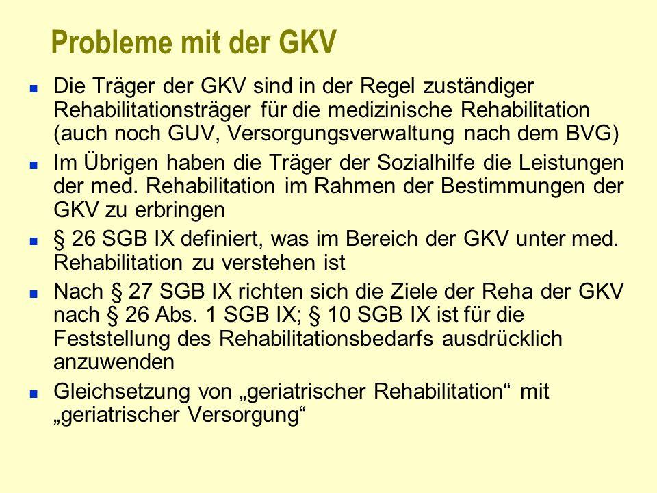 Probleme mit der GKV