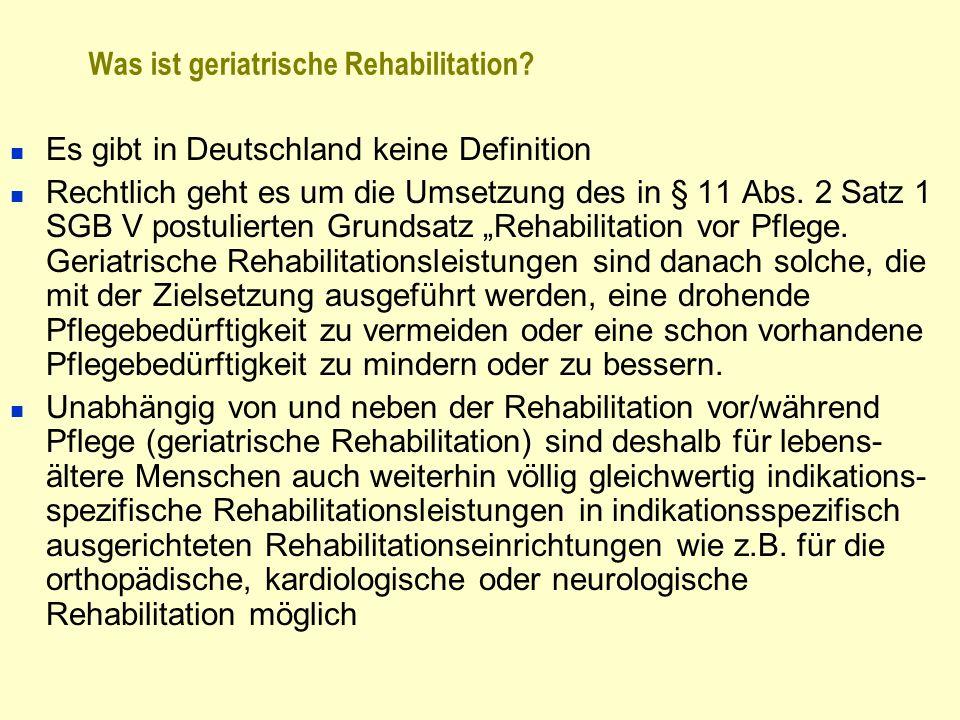 Was ist geriatrische Rehabilitation