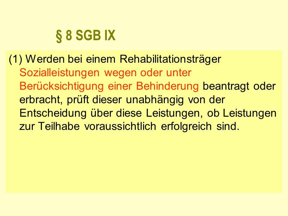 § 8 SGB IX