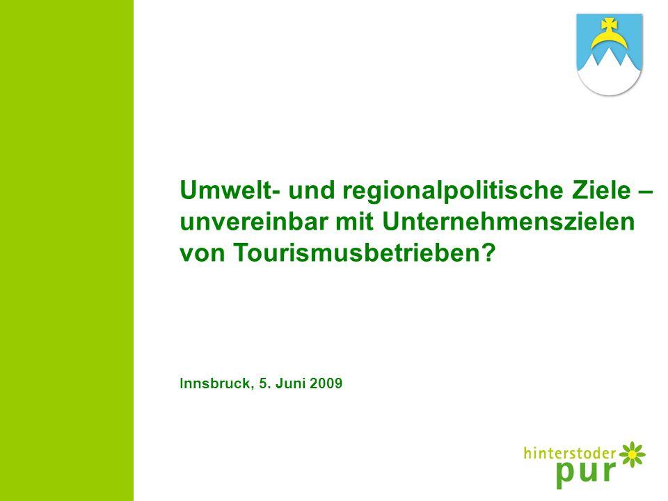 Umwelt- und regionalpolitische Ziele –