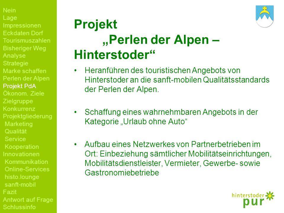 "Projekt ""Perlen der Alpen – Hinterstoder"
