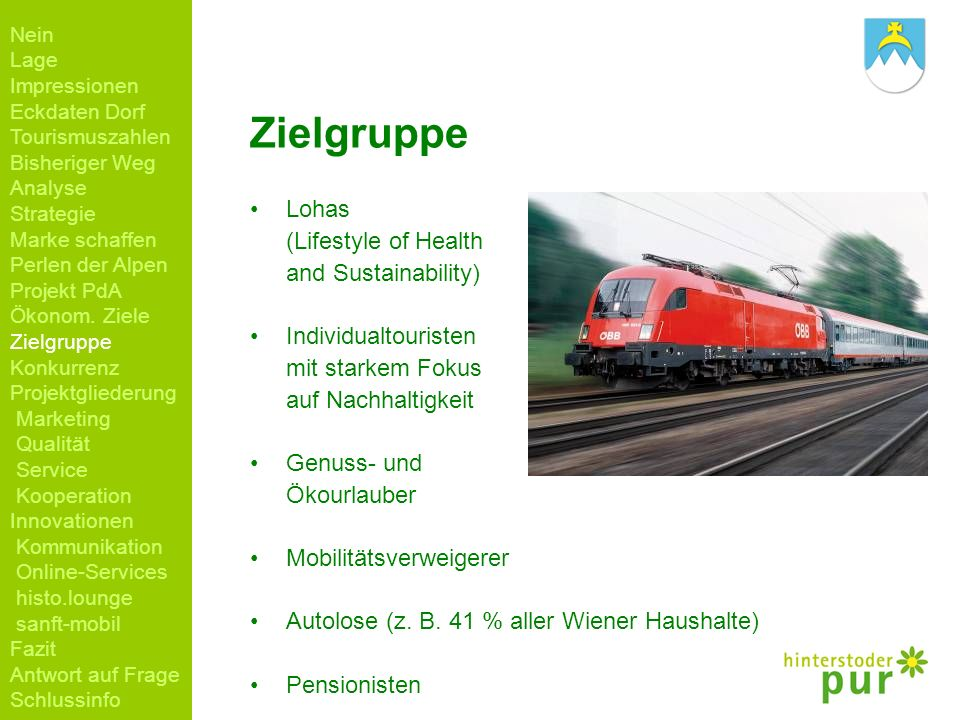 Zielgruppe Lohas (Lifestyle of Health and Sustainability)