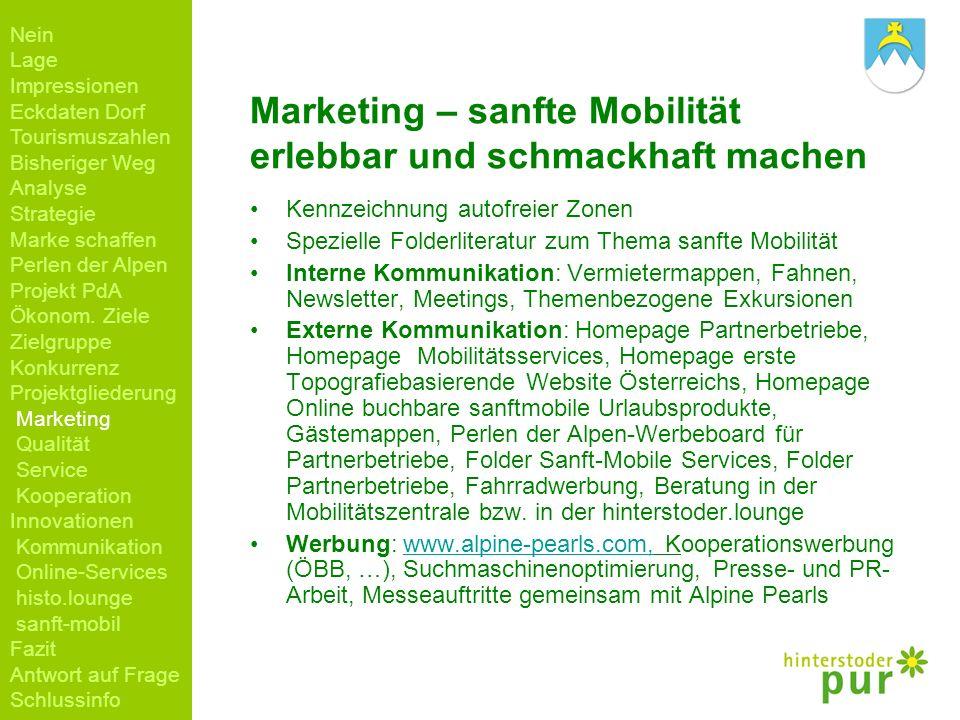 Marketing – sanfte Mobilität erlebbar und schmackhaft machen