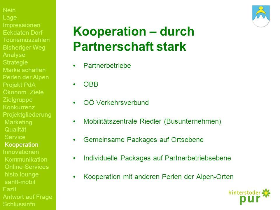 Kooperation – durch Partnerschaft stark