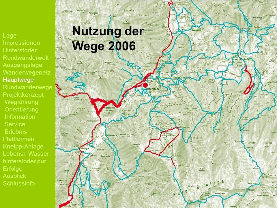 Nutzung der Wege 2006 Lage Impressionen Hinterstoder Rundwanderwelt