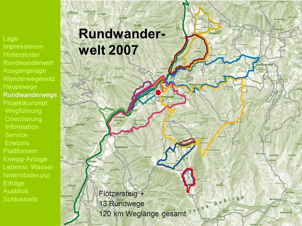 Rundwander- welt 2007 Flötzersteig + 13 Rundwege