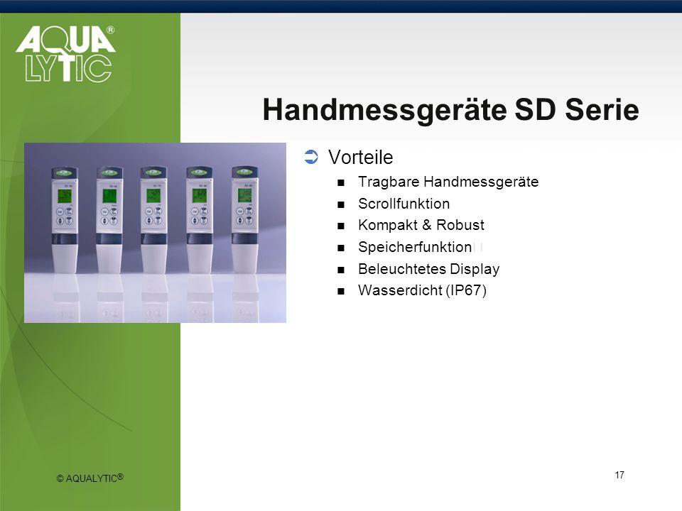 Handmessgeräte SD Serie