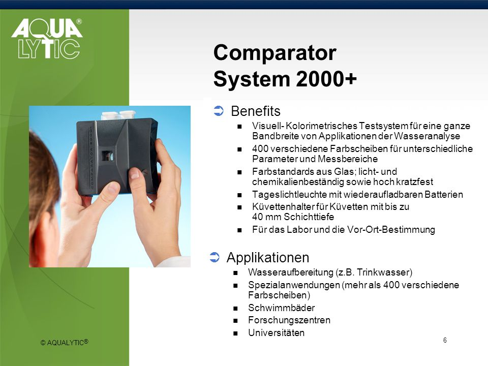 Comparator System Benefits Applikationen