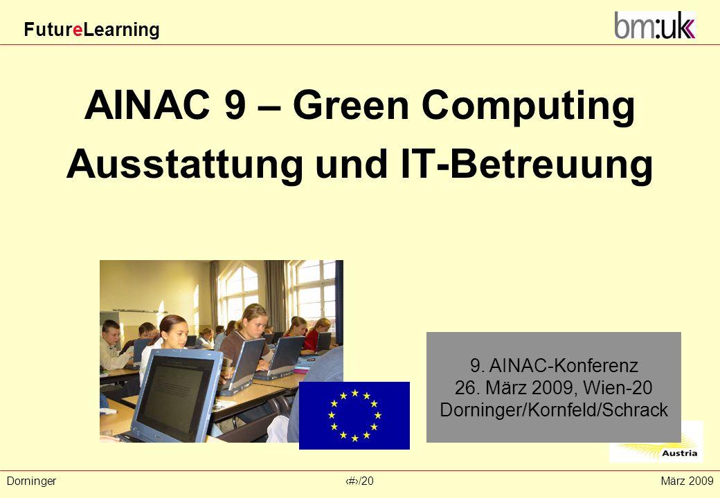 AINAC 9 – Green Computing Ausstattung und IT-Betreuung