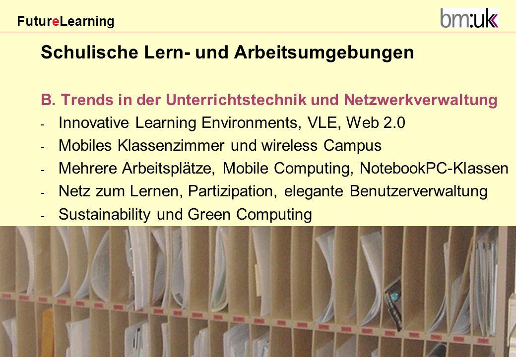 Schulische Lern- und Arbeitsumgebungen