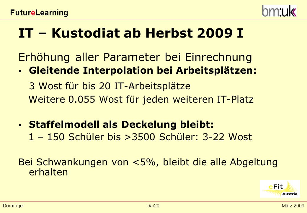 IT – Kustodiat ab Herbst 2009 I