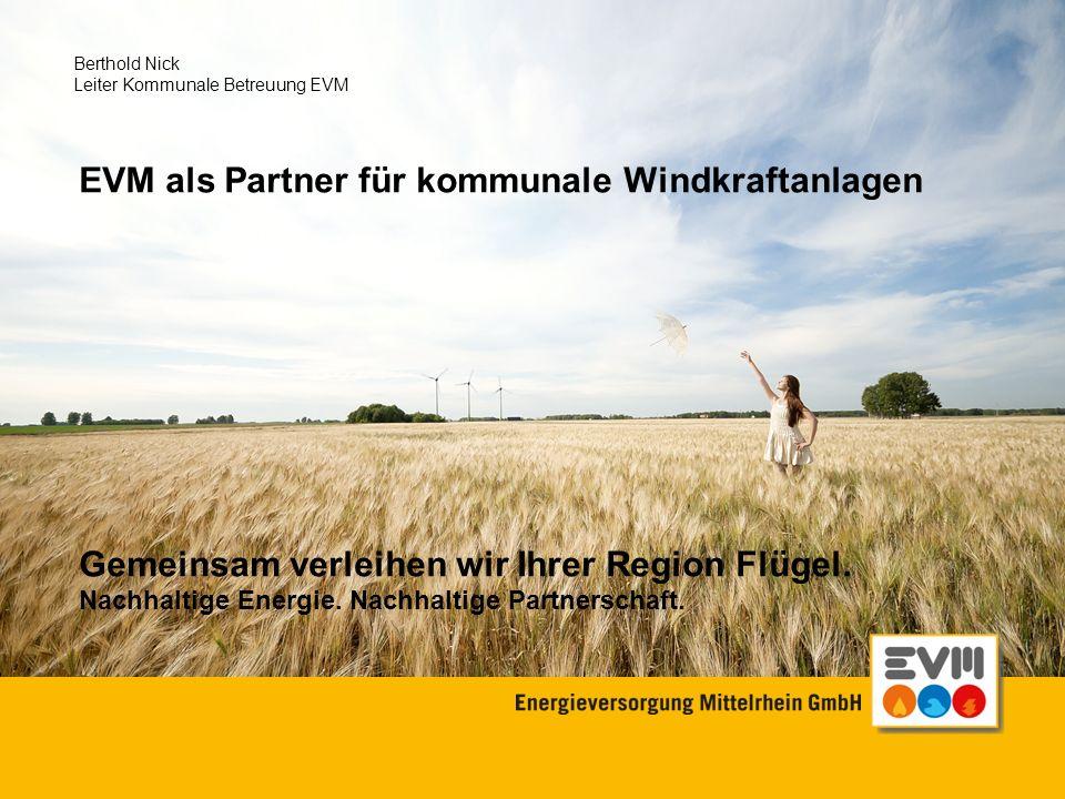 EVM als Partner für kommunale Windkraftanlagen