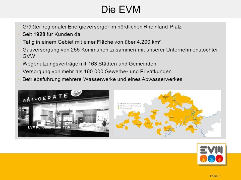 Die EVM Größter regionaler Energieversorger im nördlichen Rheinland-Pfalz. Seit 1928 für Kunden da.