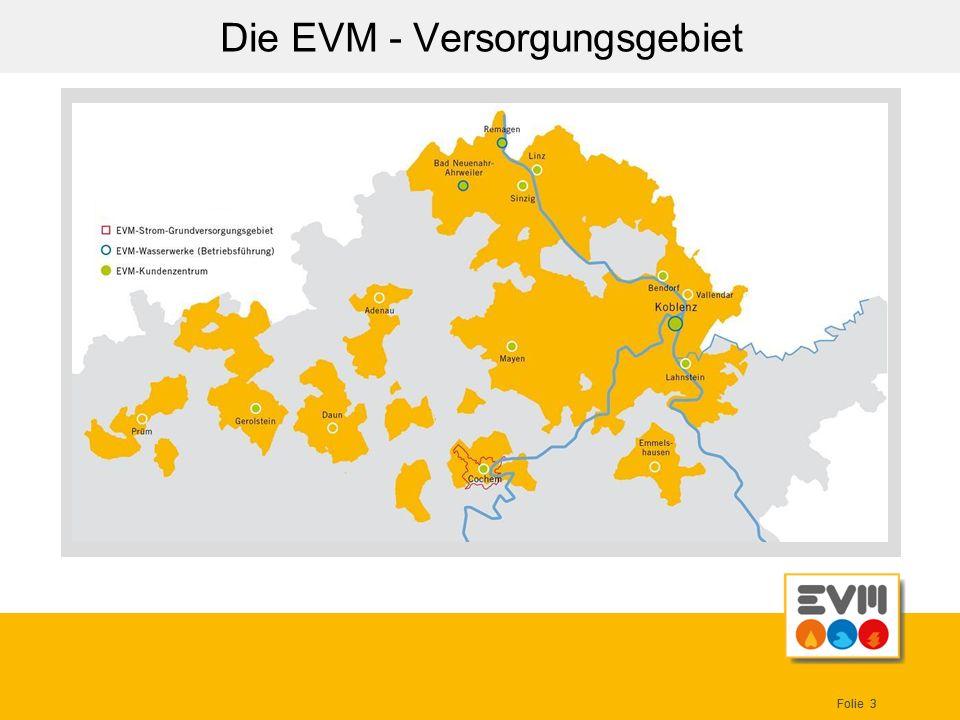Die EVM - Versorgungsgebiet