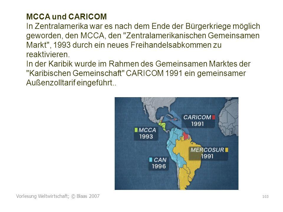 MCCA und CARICOM