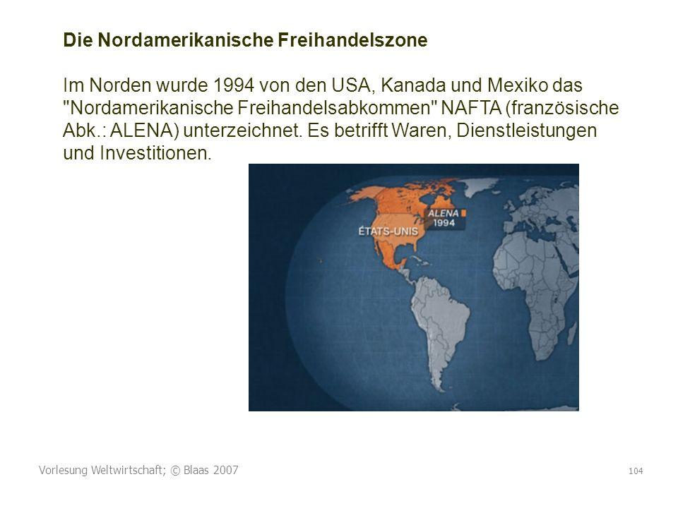Die Nordamerikanische Freihandelszone