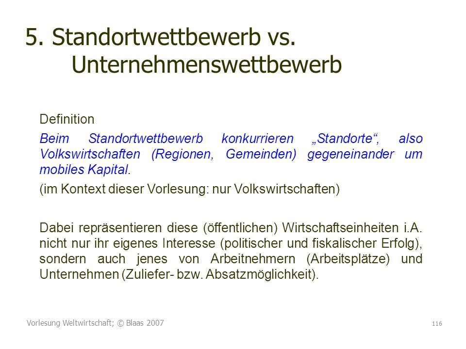 5. Standortwettbewerb vs. Unternehmenswettbewerb