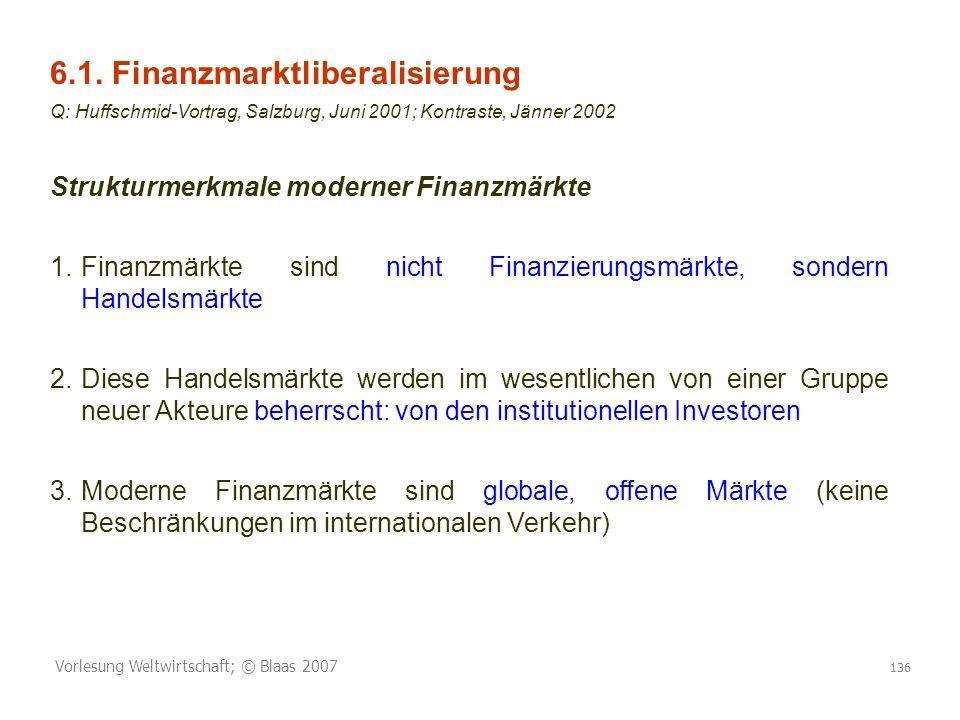 6.1. Finanzmarktliberalisierung