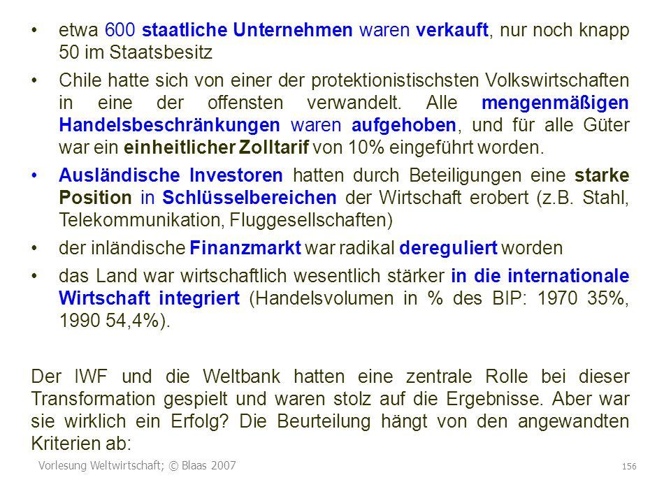 der inländische Finanzmarkt war radikal dereguliert worden