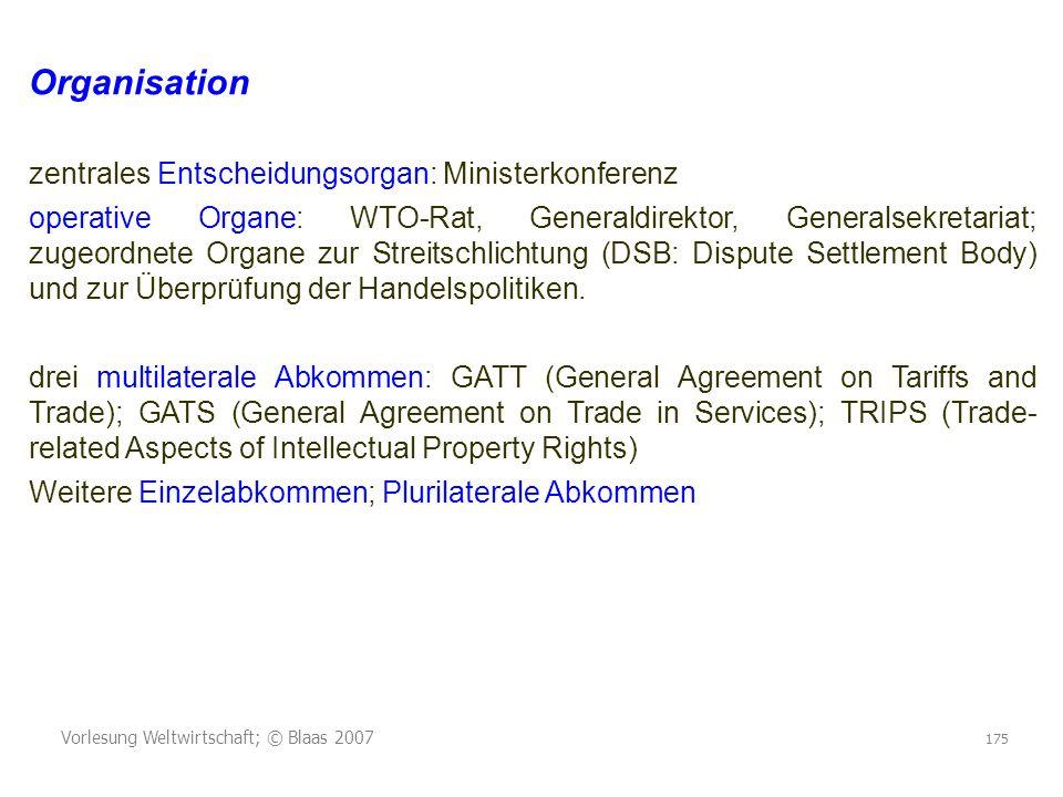 Organisation zentrales Entscheidungsorgan: Ministerkonferenz