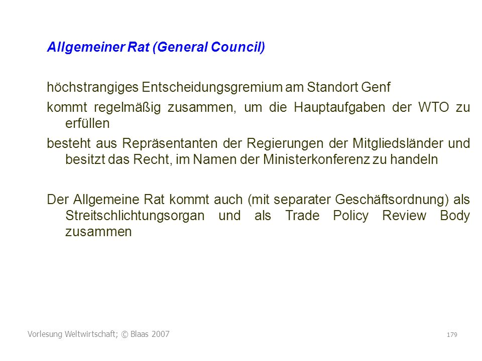 Allgemeiner Rat (General Council)