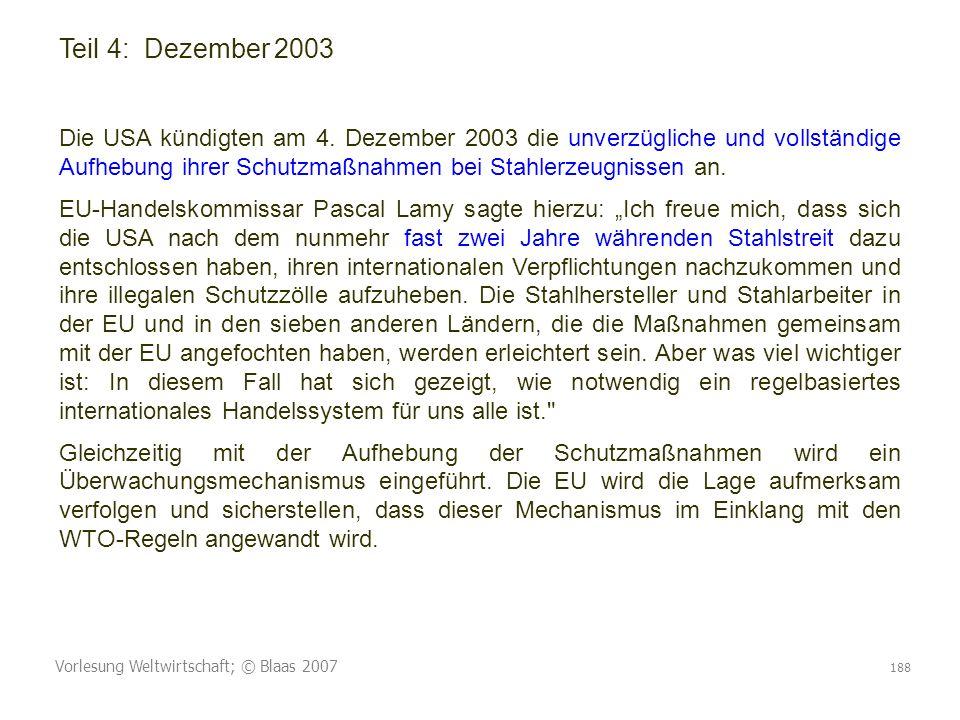 Teil 4: Dezember 2003