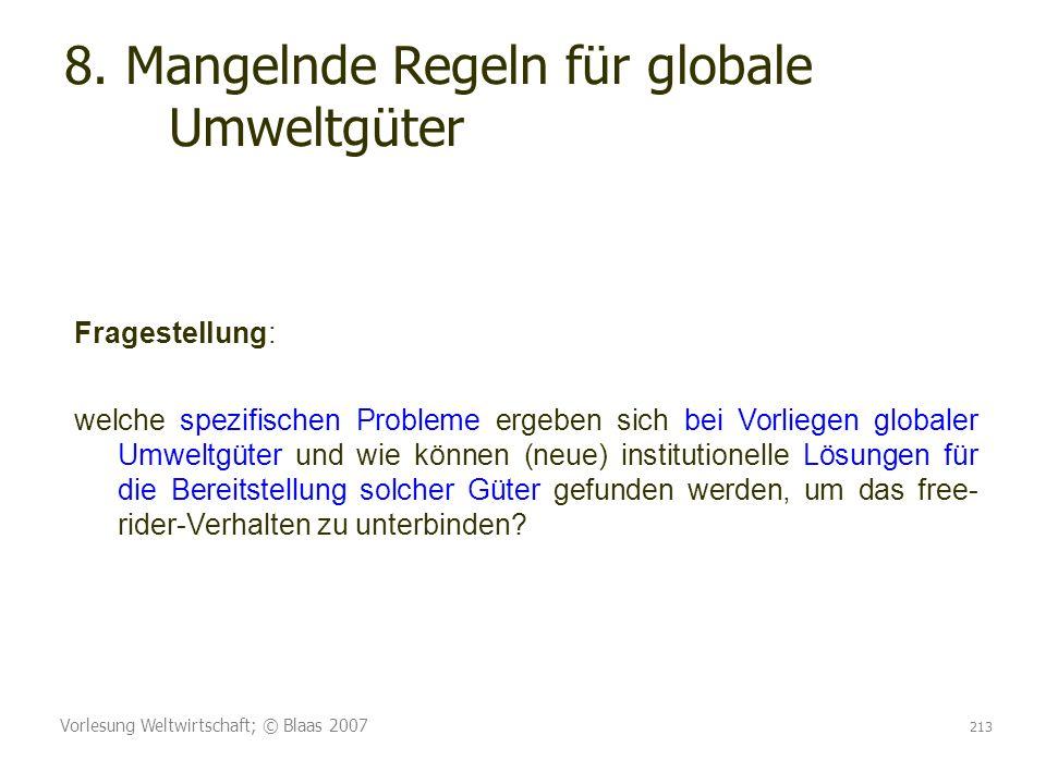 8. Mangelnde Regeln für globale Umweltgüter