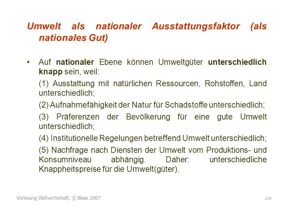 Umwelt als nationaler Ausstattungsfaktor (als nationales Gut)