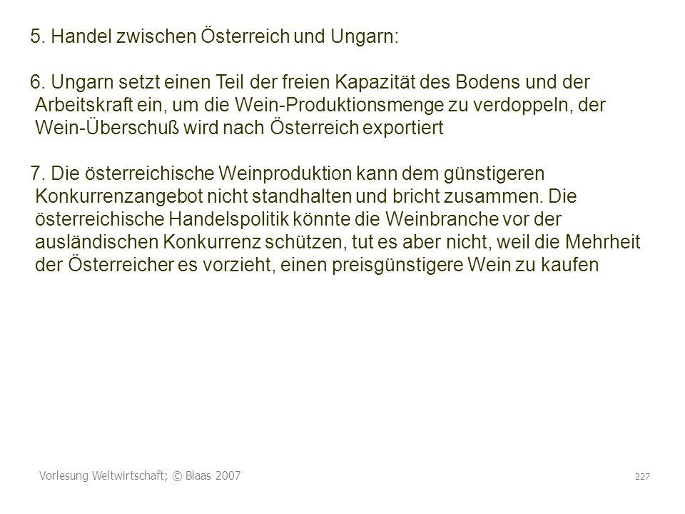 5. Handel zwischen Österreich und Ungarn: