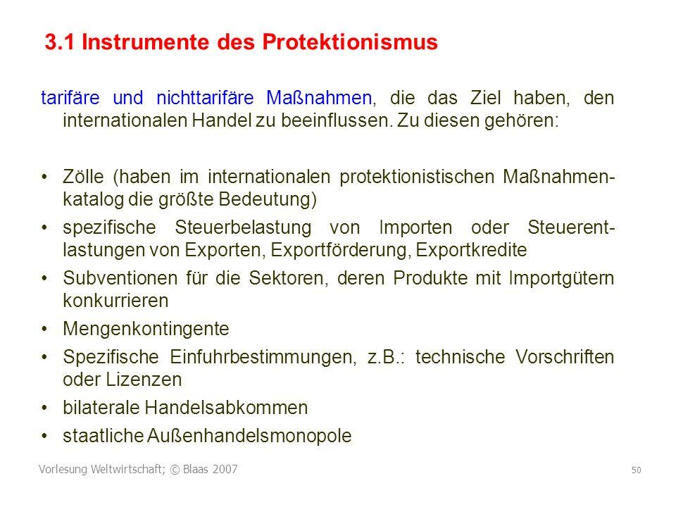 3.1 Instrumente des Protektionismus