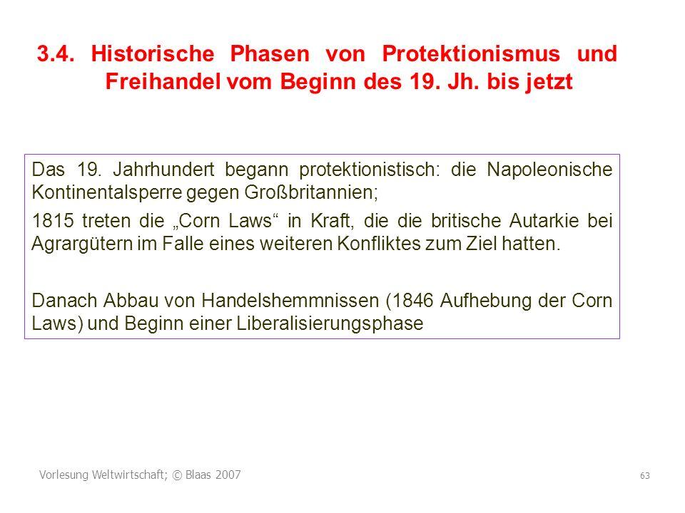 3. 4. Historische Phasen von Protektionismus und