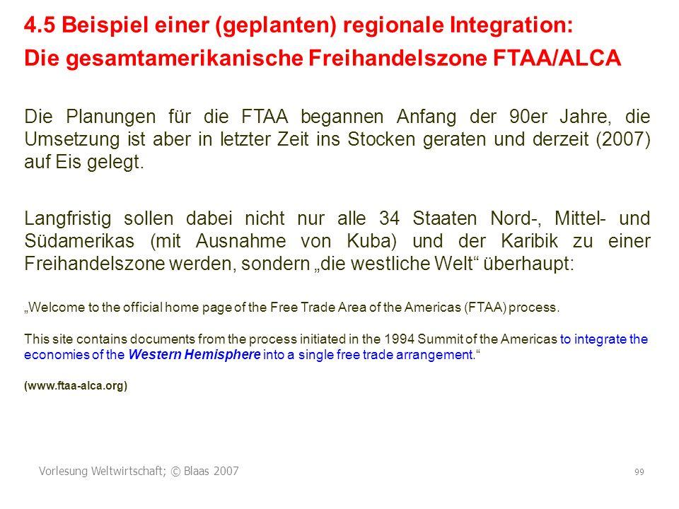 4.5 Beispiel einer (geplanten) regionale Integration: